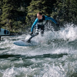 Aaron Black Surfing in Alberta