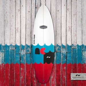 "Buster ""Pacman"" Limited Edition Surfboard, D-Type 5'7"