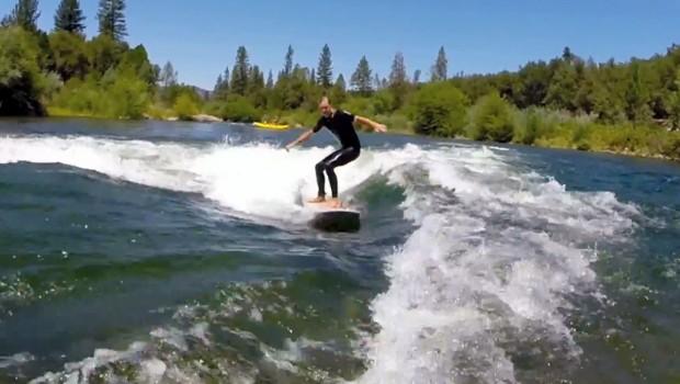Surfing Barking Dog Wave in California
