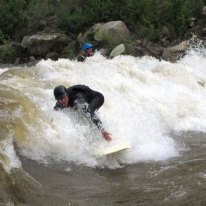Jesse Dimarco and Ben Cross River Surfing