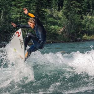 Ben Murphy Surfing Mountains Wave, Alberta