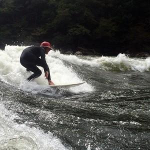 Surfing at Diagonal Ledges (WV)