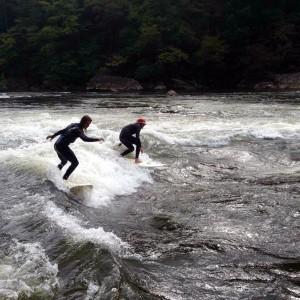 West Virginia River Surfing