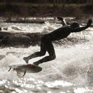 Cameron Fuller Bailing off Brennan's Wave in Missoula