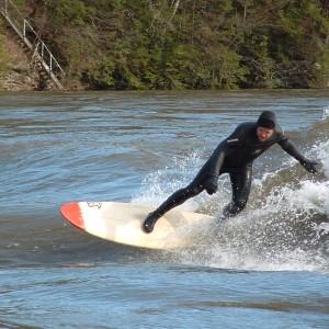Brian Oelberg Surfing Wavosaurus