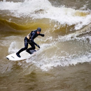 Dave Wolfe Surfing the New River Dries, USA