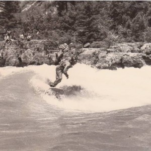Dry Suit River Surfing, 1988