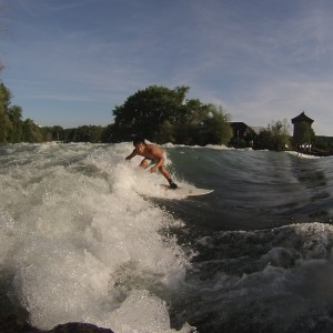 Eusebio Rodriguez River Surfing