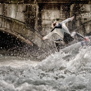 Taking Off at the Eisbach
