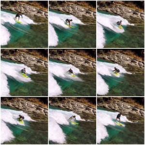River Surfing 360 Sequence