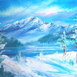 Winter - Oil Painting by David Allan