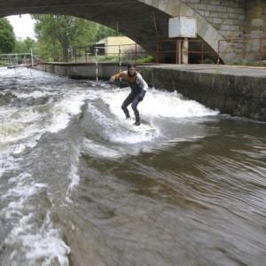 Surfing in Brandýs nad Labem in Czech Republic
