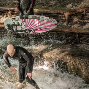 Fun Time at the Eisbach