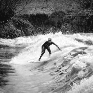 River Surfing in Poland at the Bobr river