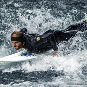 River Surf Take-Off