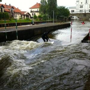 River Surfing in Czech Republic
