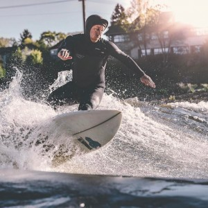 Erik Bergstrom Surfing in Bend, Oregon