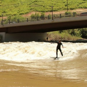 Surfing Glenwood Springs in Colorado