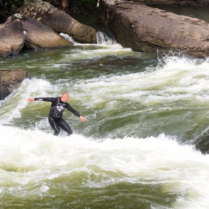 Surfing in the Lower Gauley River