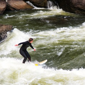 Girl River Surfing Gauley River