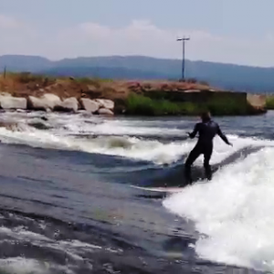 River Surfing in Idaho