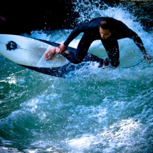 Eisbach, Munich, River Surfing Wave