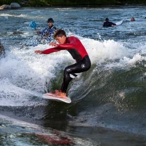 Kai Lenny River Surfing